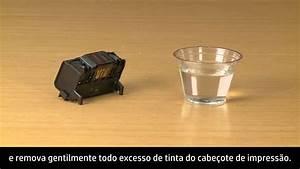 Limpeza Manual Do Cabe U00e7ote De Impress U00e3o Da Impressora Hp