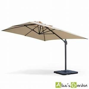 Grand Parasol Rectangulaire : parasol d port rectangulaire st jean de luz 3x4m haut de gamme beige excentr inclinable ~ Teatrodelosmanantiales.com Idées de Décoration