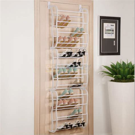 Closet Door Storage by Hanging Shoe Rack The Door 36 Pair Closet Space Saver