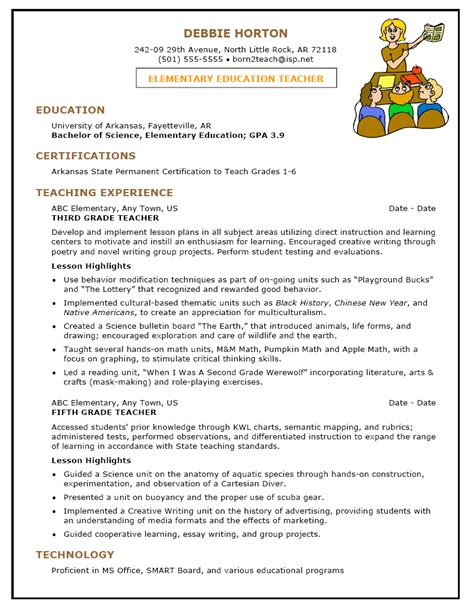 resume exle special education
