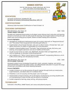 Sample Resume Template for Elementary Education Teacher 1