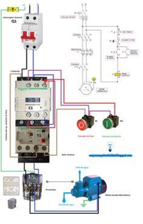 3 Pole Push Button Diagram by Single Phase Motor Contactor Wiring Electrical Mechanics