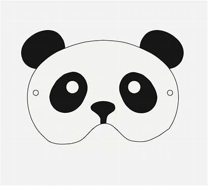 Panda Mask Printable Masks Birthday Halloween Studio