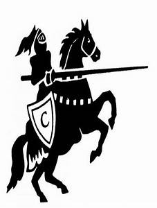 Black Knight On Black Horse - Cliparts.co