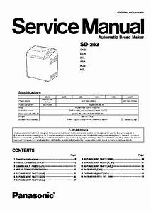 Panasonic Sd-253 Service Manual