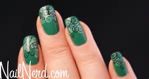 Nail nerd art for nerds ? green stamped nails