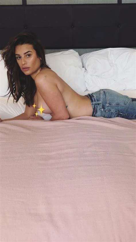 Lea Michele Topless 7 Photos Thefappening