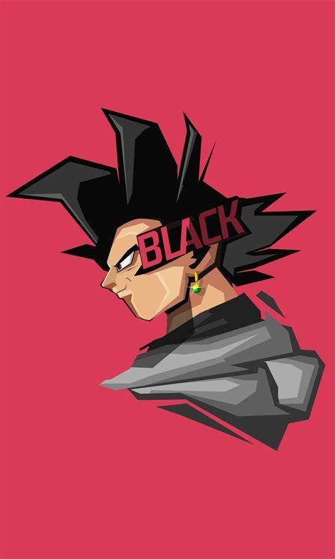goku black minimal artwork 4k 8k wallpapers hd