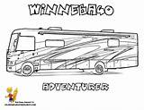 Coloring Camper Rv Pages Printable Recreational Truck Vehicle Vehicles Camping Campers Motorhome Google Rvs Silhouette Boys Kidsuki Winnebago Cameo Fun sketch template