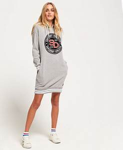 womens hooded sweat dress in grey marl superdry With robe sweat superdry