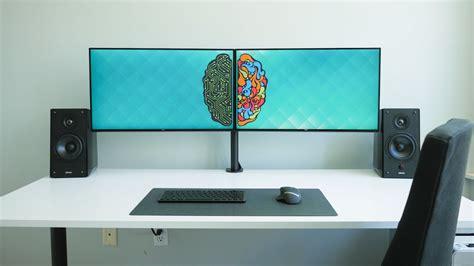 best desk for multiple monitors ultimate dual monitor desk setup youtube