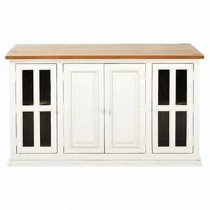 meuble cuisine maisons du monde With meuble de cuisine maison du monde 4 206lot central en manguier ivoire l 160 cm eleonore