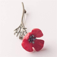 Red Poppy Brooch Pin / Michael Michaud Jewelry