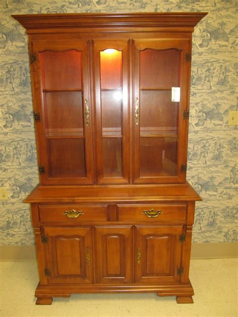 tell city china cabinet value tell city hard rock maple full glass lighted china hutch