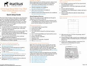 Ruckus Wireless C110 C110 Access Point User Manual