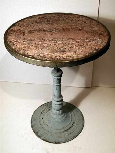 marble gueridon bistro table at 1stdibs