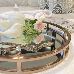 Mirrored, Coffee, Table, Tray