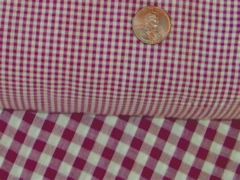 Burgundy Wine Mini Check Gingham Kitchen/Café Curtain