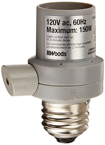 light sensor l socket woods 59405 indoor outdoor light sensor socket in