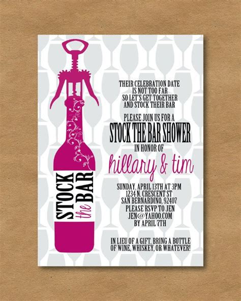 what is a stock the bar shower stock the bar invite picadilly prints invitations