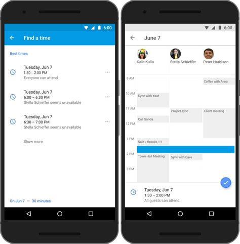 who makes android calendar for android makes scheduling meetings much