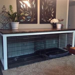 image result for dog crate below table dog kennel table With small dog crate table