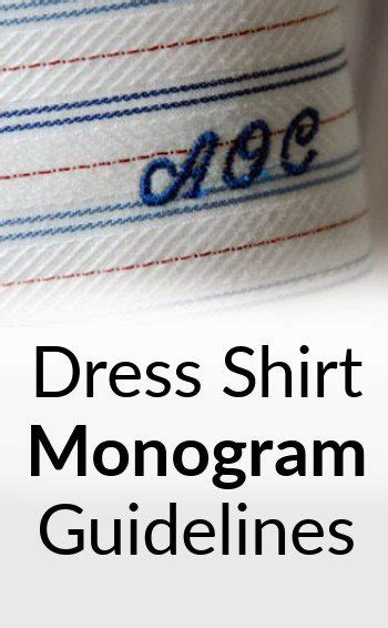 monogram rules embroidered initials  mens dress shirts