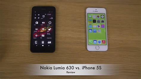 nokia lumia 630 vs iphone 5s