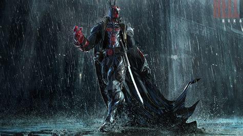 hellboy  batman mashup art  bikash das hellbat