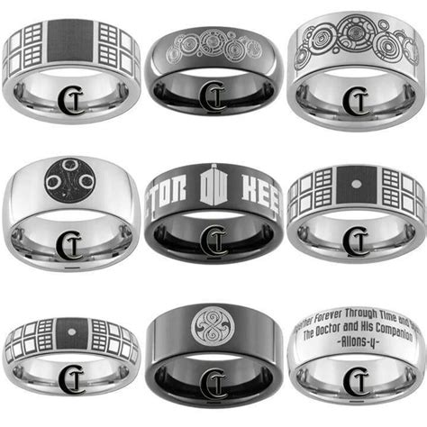 awesome custom doctor who tungsten rings nerd alert pinterest doctors awesome and doctor who