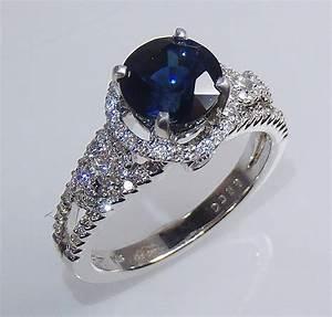dark blue diamond engagement rings diamondstud With wedding rings blue diamond