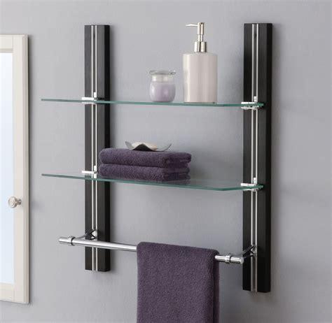 chrome wire shelving bathroom shelf organizer glass towel rack bar wall mounted