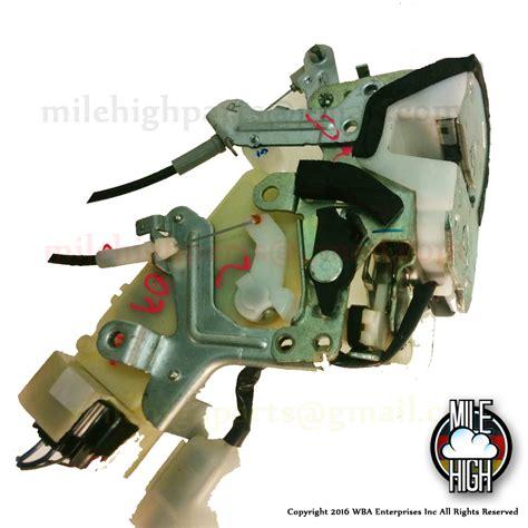 99 03 lexus rx300 door lock actuator passenger rear right 69050 48010 mile high parts used