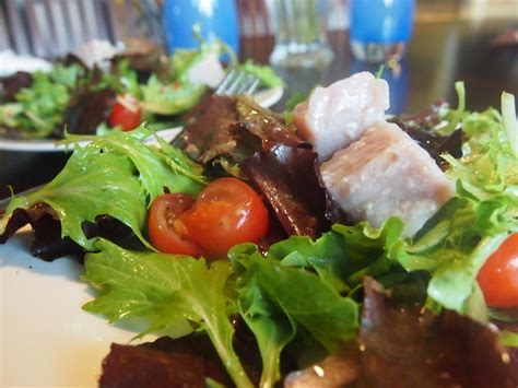 vid cuisine modernist cuisine sous vide tuna confit on green salad