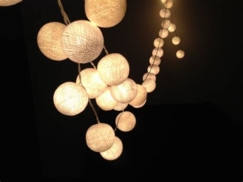 white cotton string lights for patioweddingparty and - Ball Lights
