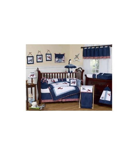 Aviator Crib Bedding by Sweet Jojo Designs Aviator 9 Crib Bedding Set