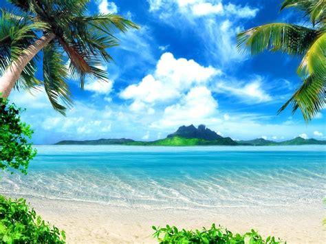 playa en el paraiso  fondos de pantalla