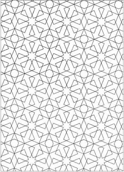 Coloring Patterns Pages Pattern Geometric Dover Arabic