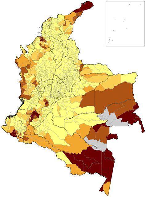 File:Mapa de Colombia (población indígena 2005).svg ...