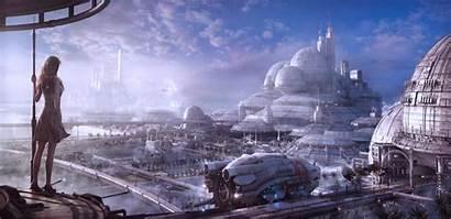 Futuristic Sci Fi Concept Cities Buildings Designs