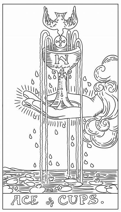 Tarot Coloring Card Adult Cards Pages Deck