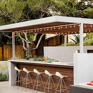 Bar Exterieur Design : une cuisine d 39 t ext rieure quip d 39 un bar pour une ambiance conviviale de bien tre ~ Melissatoandfro.com Idées de Décoration