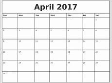Printable Monthly Calendar Template 2017 Printable 360