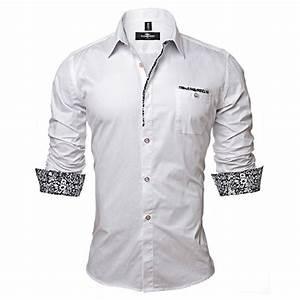 Tendance Mode Homme : chemise homme mode tendance fashion blanche pc0016 d ~ Preciouscoupons.com Idées de Décoration