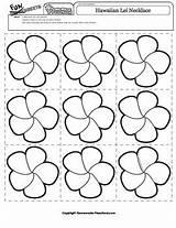 Lei Hawaiian Drawing Necklace Flower Getdrawings Worksheet sketch template