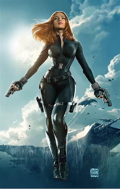 Widow Marvel Fanart Avengers Natasha Comic Scarlett