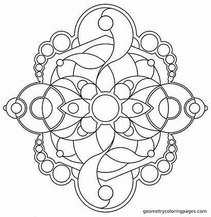 Coloring Geometry Sacred Pages Mosaic Mandala Patterns
