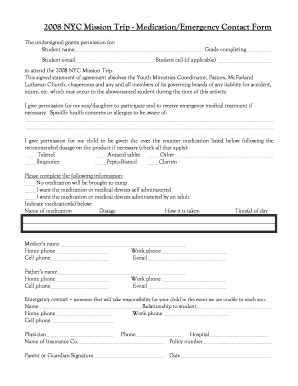 Mission Trip Evaluation Form by Fillable Online Mcfarlandlutheran Nyc 2008 Mission Trip