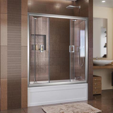 dreamline shower door shop dreamline butterfly 57 5 in to 59 in frameless chrome