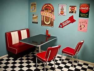 American Diner Wallpaper : i love the 50 39 s diner look retro kitchen diner decor retro dining rooms ~ Orissabook.com Haus und Dekorationen
